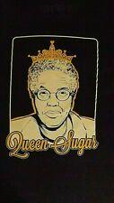 VINTAGE  BLACK MEDIUM QUEEN SUGAR, TONI PRECKWINKLE GRAPHIC CREW  NECK T- SHIRT