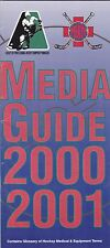 2001 SOCIETY OF PROFESSIONAL HOCKEY EQUIPMENT MANAGERS MEDIA GUIDE NHL