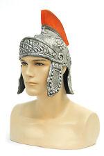 Casque de romain en latex imitation acier et plumes Chapeaux de deguisement