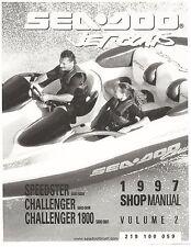 Sea-Doo Service Shop Manual 1997 Speedster, Challenger & Challenger 1800