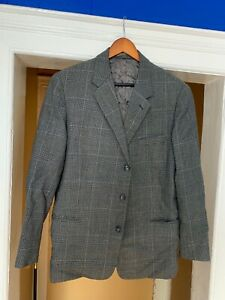 VINTAGE Suit Jacket Tailored By Plastic (Made From Burberrys Materials)