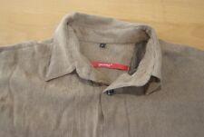 Q416 Signum Hemd Größe S strukturiert braun schwarz Herren Herrenhemd Langarm