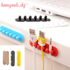 2 Pcs color Desktop Wire Cord Clips Management Cable Organizers Line Drop Holder