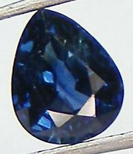 0.86CT. VS / GORGEOUS COLOR PEAR 6x5 MM. NATURAL BLUE SAPPHIRE AUSTRALIA