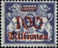 Danzig 174 postfrisch 1923 Aushilfsausgabe