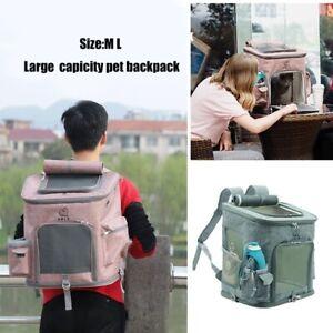 Large Capacity Pet Dog Cat Backpack Carrier Outdoor Travel Portable Shoulder Bag
