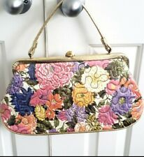 New listing Large Vintage Soure plastic covered gold Purse