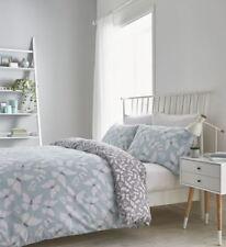 Catherine Lansfield Butterfly Duvet Cover Bedding Bed Set Reversible Duck Egg
