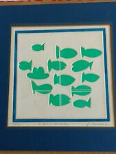 """Jean Sariano (Algerian / American) Pop Art Embossed Etching """"A Hat in the Water"""""""