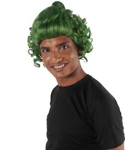Adult Cosplay Elf Curl Wave Wig Green Hair Christmas Oompa Loompa Party HM-164A