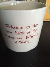 WEDGWOOD BEATRIX POTTER Baby Mug Welcome New Baby Prince & Princes Of Wales 1982