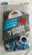 NEW Fruit of the Loom Boys M 10-12 7 Pack Boxer Brief Underwear