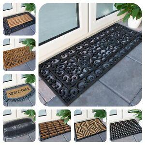 Coir Rubber Doormats for Outside Dirt Catcher Marrier Mats Non Slip Welcome Mats