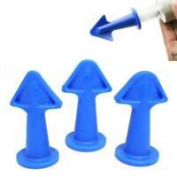 3PCS Silicone Caulking Finisher Tool Nozzle Spatulas Filler Spreader Tool Set uk
