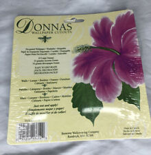 Donna's Dewberry Wallpaper Cutouts Hibiscus 10 Count Decorate Furniture Walls