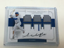 2017 Panini National Treasures ADDISON RUSSELL AUTO 6 piece JERSEY RELIC #16/49