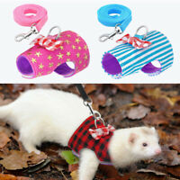 Pet Small Animal Harness Leash Guinea Pig Ferret Hamster Rabbit Squirrel Clothes