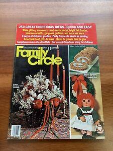 Family Circle Magazine 1975 Christmas December