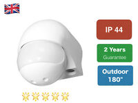 """New Security PIR Motion Movement Sensor Detector Switch white  Outdoor 180"""""""