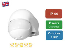 New Security PIR Motion Movement Sensor Detector Switch white  Outdoor 180""