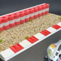 RAS Reifenstapel XL für Autorennbahnen 1:32 - 1:24 ROT-WEISS-ROT - 99 cm