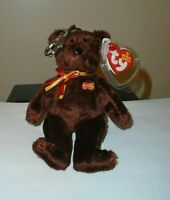 Ty Beanie Baby Key Clip - MC Beanie the Bear (Mastercard Exclusive)(5 Inch) MWMT