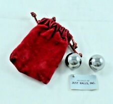 VINTAGE STAINLESS STEEL BALLS FROM JUST BALLS, INC 1972 STRESS RELIEF - NOVELTY