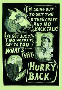 """Abbott and Costello Inspired Limited Giclee Print Art Poster #10 13"""" x 19"""""""