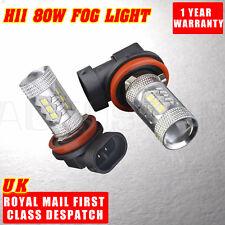 2X Super Bright 80W H11 Osram LED DRL Car Light Driving Fog Light Lamp Bulbs UK