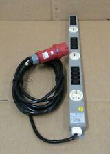 Knurr 10/16A 400V 12 Way Rack Mount PDU Data Centre Network Cabinet Plug IP44