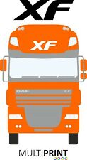 Daf XF Vinyl Sticker Graphic Truck Lorry Cab Roof Front Artic Driver LOR28