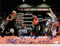 Karate Kid Cobra Kai Macchio Zabka Kove Autographed Signed 11x14 Photo JSA COA