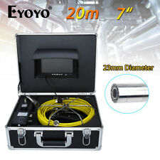 "EYOYO  20M  7"" LCD Color monitor 23mm lens Camera Pipe Pipeline Drain Inspection"