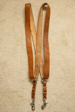 LUXURY HANDMADE TAN LEATHER 2-CAMERA HARNESS CAMERA STRAPS
