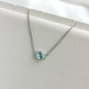 Kendra Scott Tess Dichroic Glass Pendant Necklace in Silver