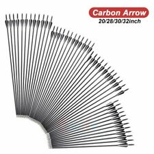 """(12 Pack) Archery Carbon Arrows for Compound & Recurve Bow Broadhead 20-32"""""""