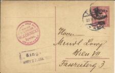 Poland postal card HG:16a ZYWIEC 22/JAN/1920 to AUSTRIA, POLISH-SOVIET RUSSIA