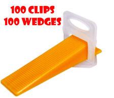 200Pcs Tile Flat Leveling System 100 Clips 100 Wedges 1.5mm Floor Balance Tool