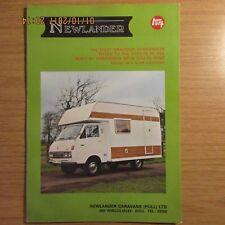 NEWLANDER TOYOTA HI-ACE MOTORHOME CAMPER VAN UK Market Sales Brochure 1970s