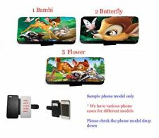 Bambi leather wallet phone case for iPhone Samsung LG HTC Xperia