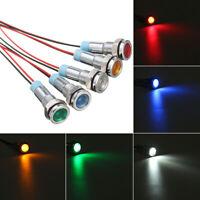 5X Car Boat 12V 6mm LED Indicator Light Dash Dashboard Panel Warning Pilot Lamps