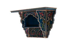 Painted Moroccan shelf, Wall Shelves Floating Shelves dark Blue, Rustic Floating