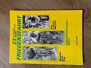 27 Friedensfahrt 1974, Sammelalbum, Propaganda Heft frühe DDR Zeitschrieft