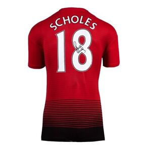 Paul Scholes signed Manchester United shirt from Private signing COA £150