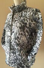 Animal Print Quilted Jacket Lightweight Over Coat Windbreaker Cheetah