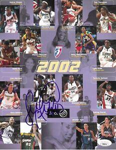 Sue Bird, Lauren Jackson & 4 Other Autographs- 2002 Rookie Year Lineup Card JSA