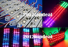 40pcs 3LEDS WS2811 5050 RGB Super Bright LED Module SMD Light Waterproof 12V DC