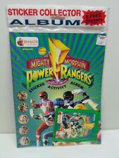 Power Rangers Mighty Morphin Novelty accessory item STICKER COLLECTOR ALBUM Seal