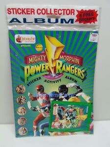 Power Rangers Mighty Morphin Novelty accessory item STICKER COLLECTOR ALBUM
