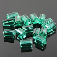 20pcs Swaro/vski  4x4x8mm Cuboid Crystal beads D Peacock-green